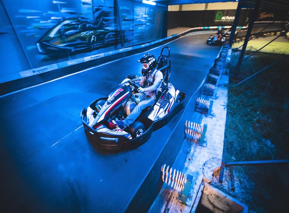 Luce blu Go Kart